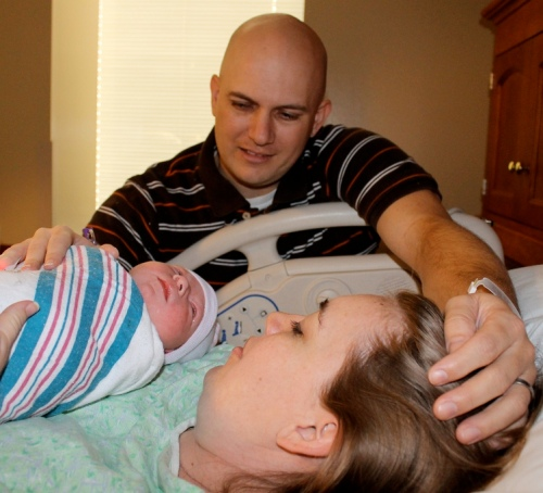 My husband and I welcomed our daughter into the world Nov. 12, 2012.